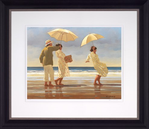 The Picnic Party (Large) by Jack Vettriano - Framed Limited Edition on Paper
